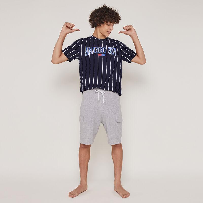 Conjunto de pijama top + shorts engmorteliz;