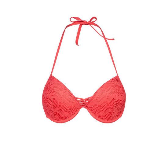 Parte de arriba de bikini roja bigoudiz;
