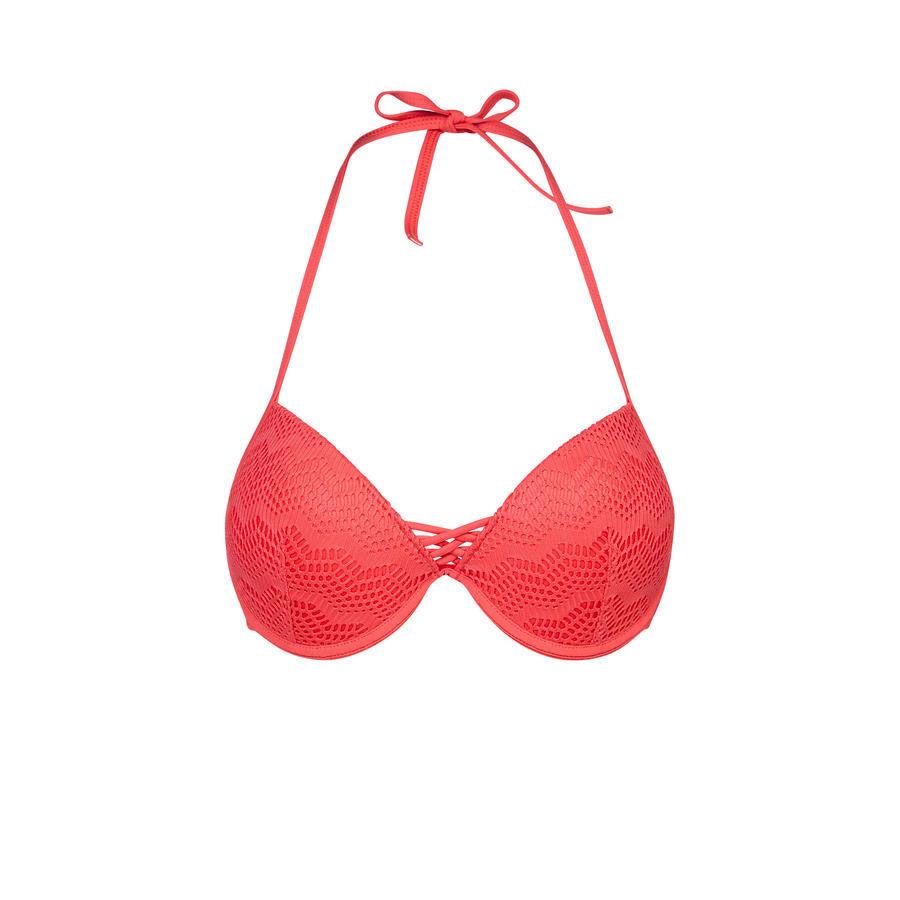 Parte de arriba de bikini roja bigoudiz;${refinementColor}
