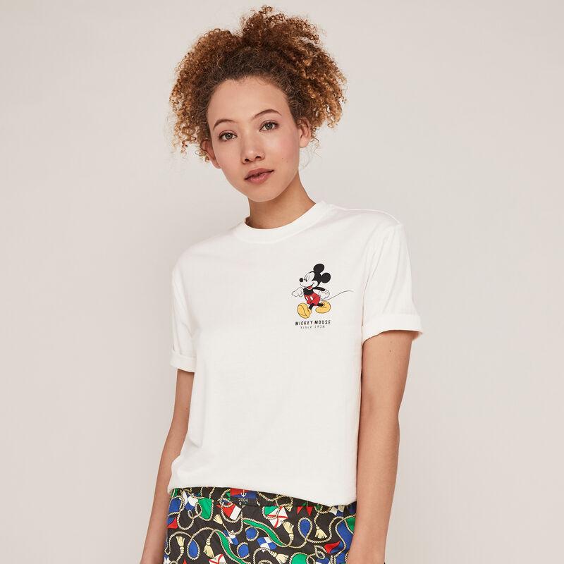 Top con mangas con estampado de Mickey - blanco ;