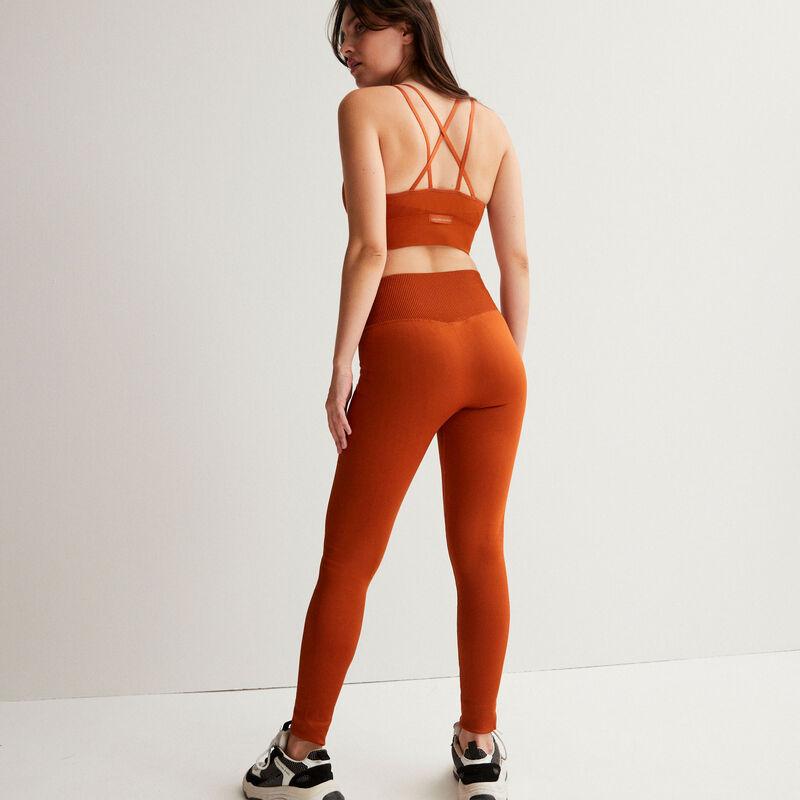 sujetador deportivo efecto cruzado - marrón;