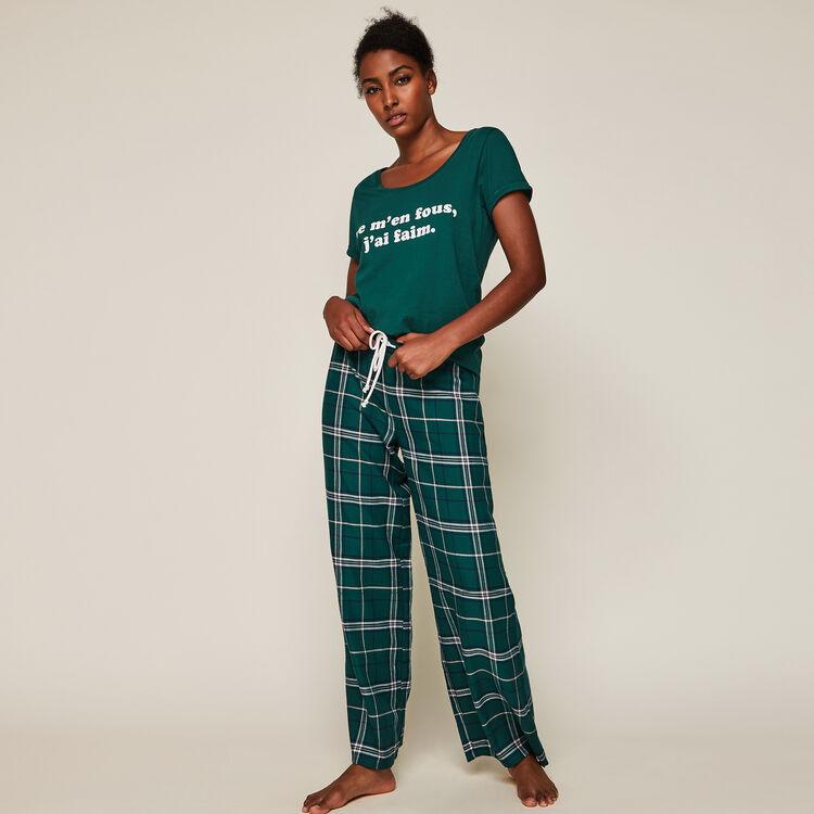 Pantalón de cuadros caromiz;