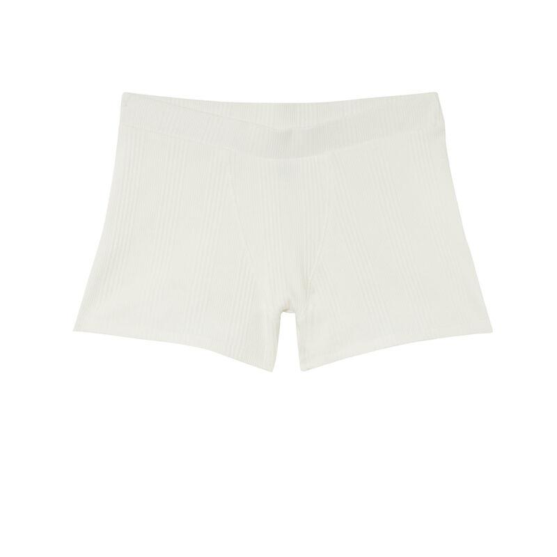 Short unisex de punto liso - beige;