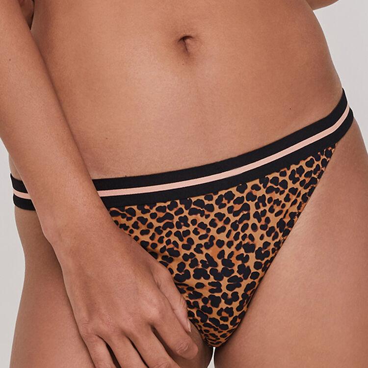 Braguita de microfibra y encaje estampado de leopardo Leopoldiz;
