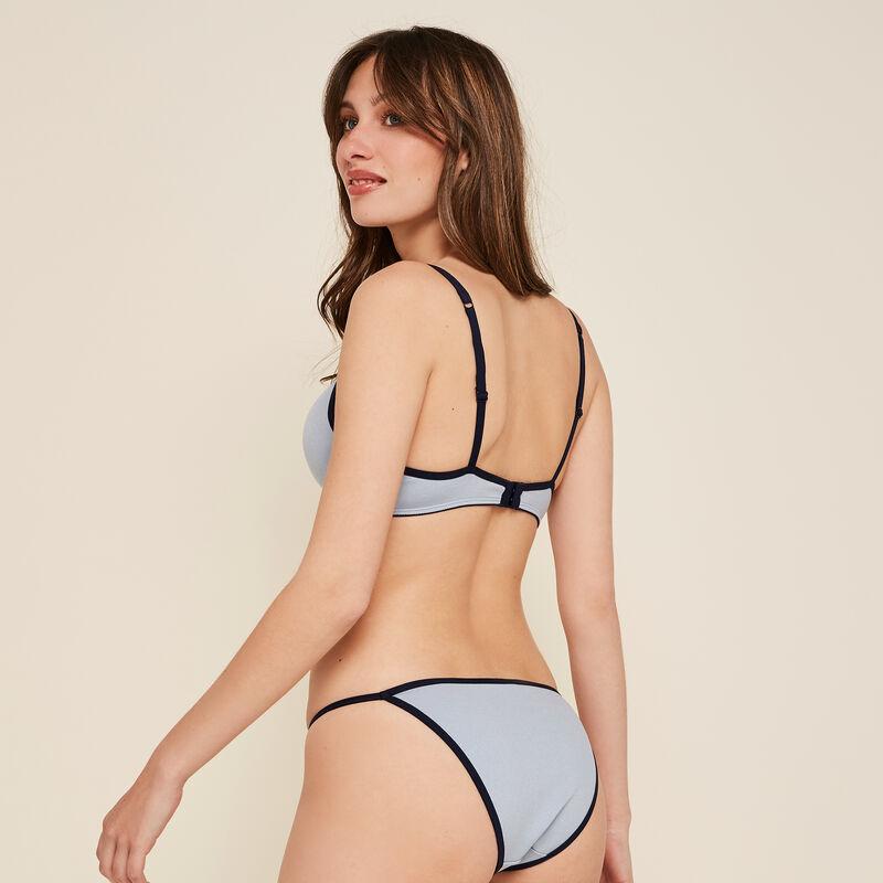 Braguita azul de cintura fina;