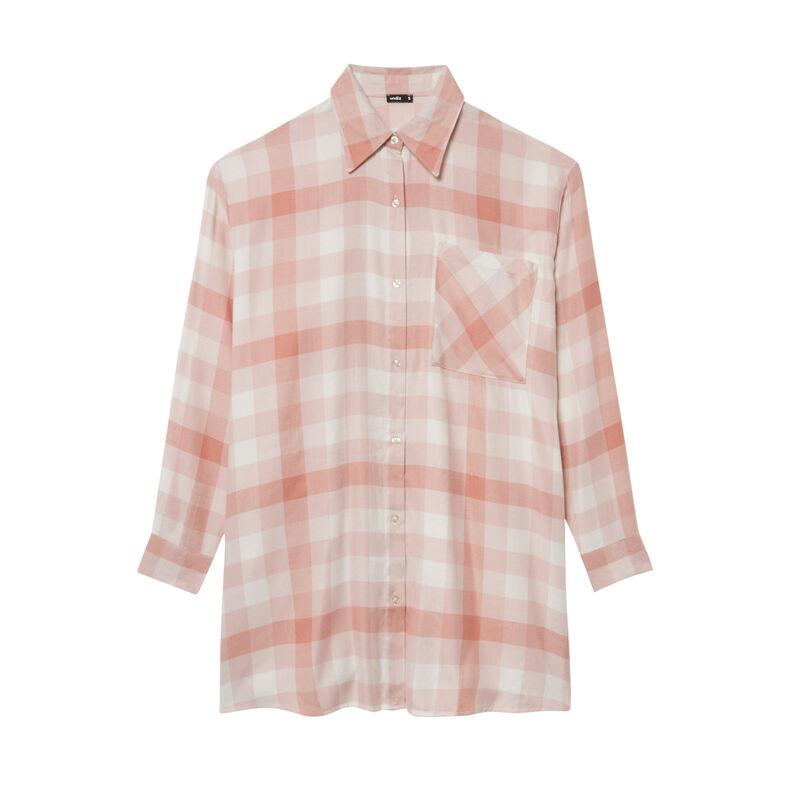 camisa oversize de cuadros - caramelo;
