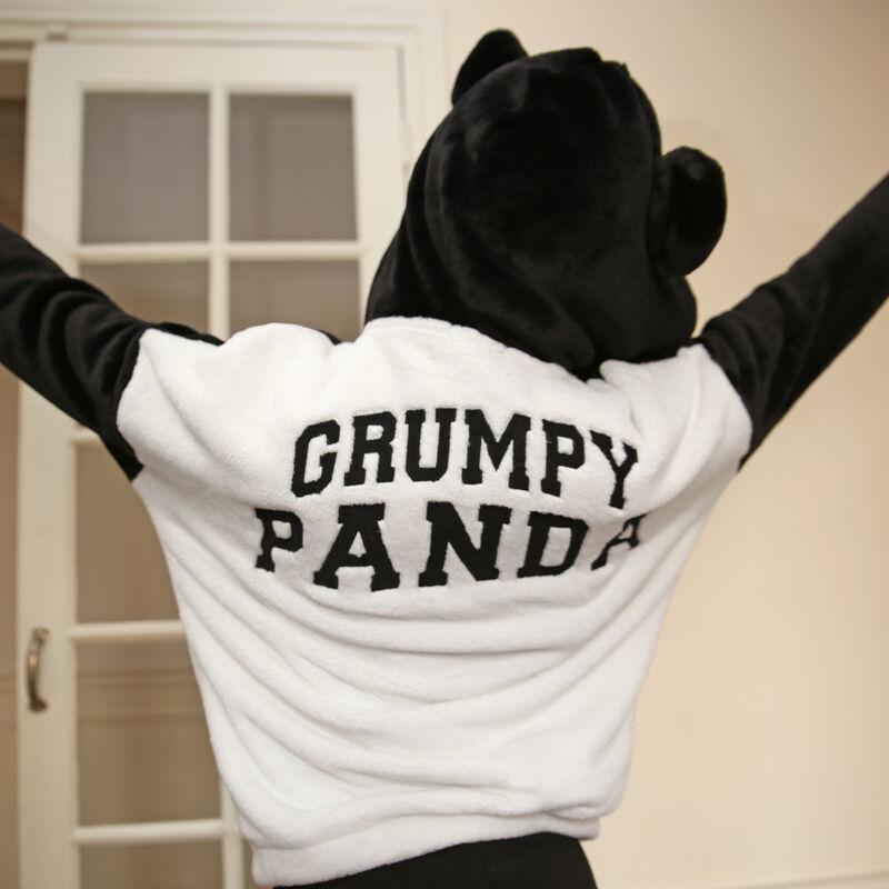 Polar panda con mensaje de panda gruñón - negro ;