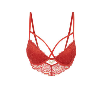 Sujetador corpiño push-up rojo ladrillo precieusiz red.