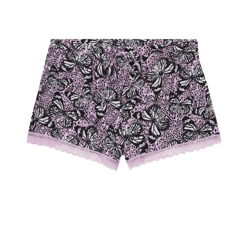 Pantalón corto con estampado - morado;