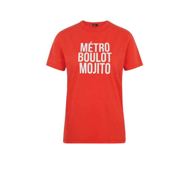 Camiseta coral Mojitiz;