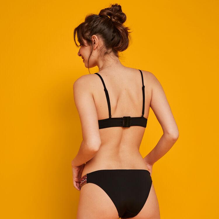 Parte de abajo de bikini negra Brodindiz;