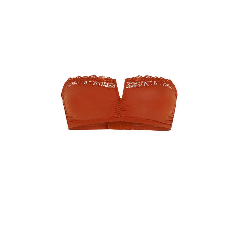 Sujetador bandeau - marrón;