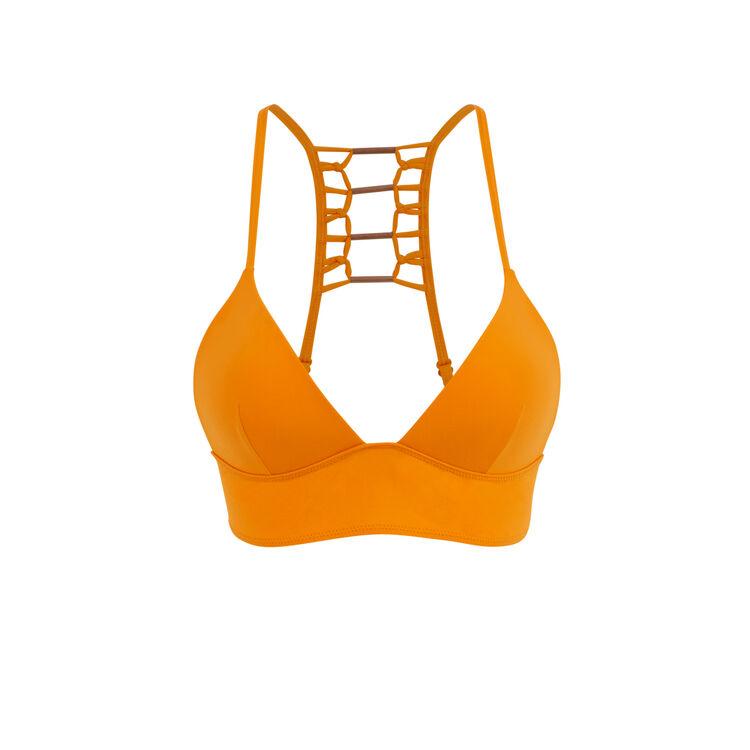 Parte de arriba de bikini triangular naranja afrotubiz;