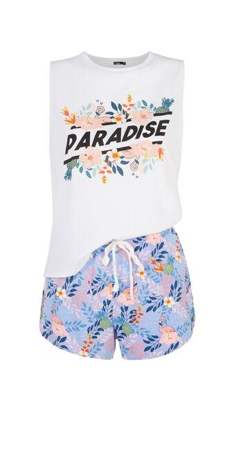 Conjunto de pijama blanco paradiz white.