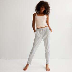 Pantalón de punto - gris claro