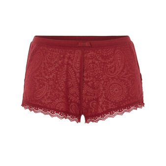 Short burdeos lascaliz red.