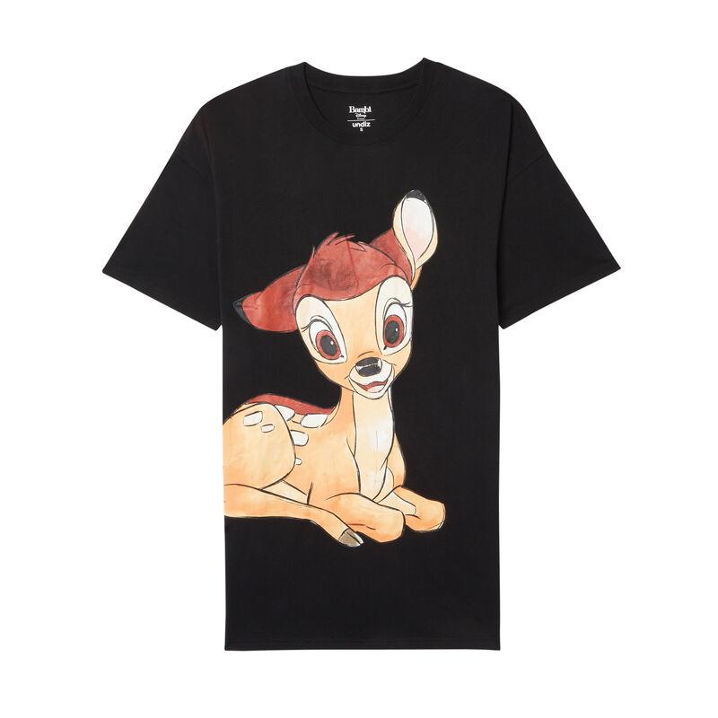 camiseta larga con estampado de Bambi - negro;