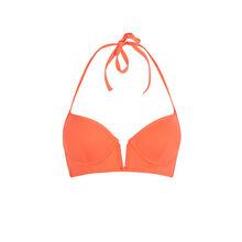 Top de bikini naranja con push-up creoliz pomarańczowy.