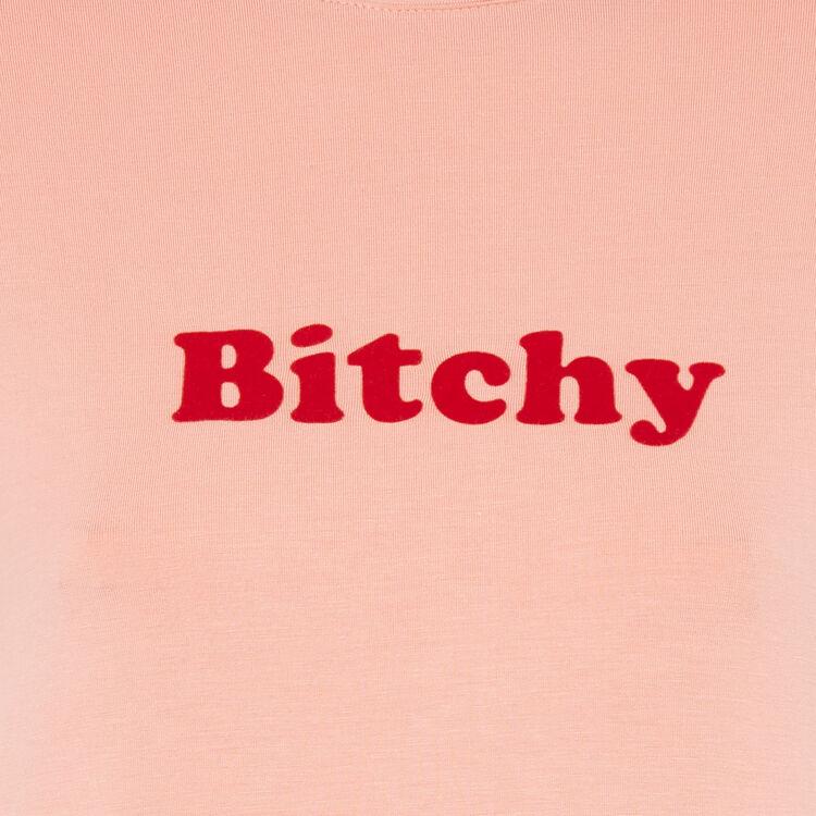 Camiseta rosa engliemmerdeusiz;