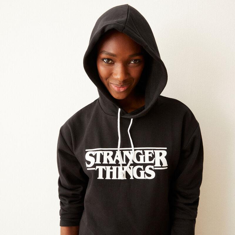 Sudadera estampada Stranger Things - negra;