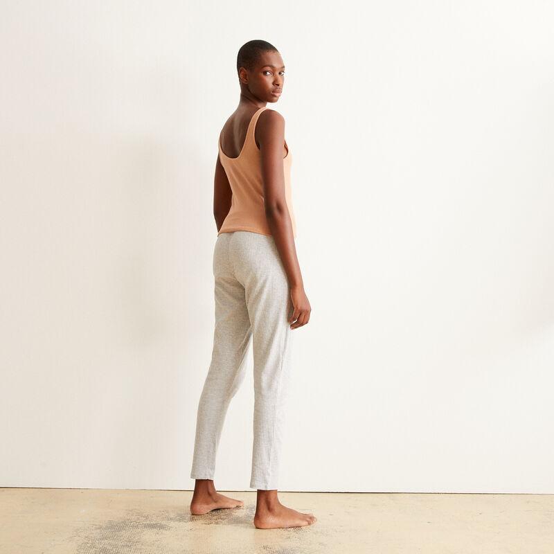 Pantalón de punto - gris claro ;