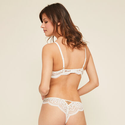 Sujetador corpiño push-up blanco precieusiz white.