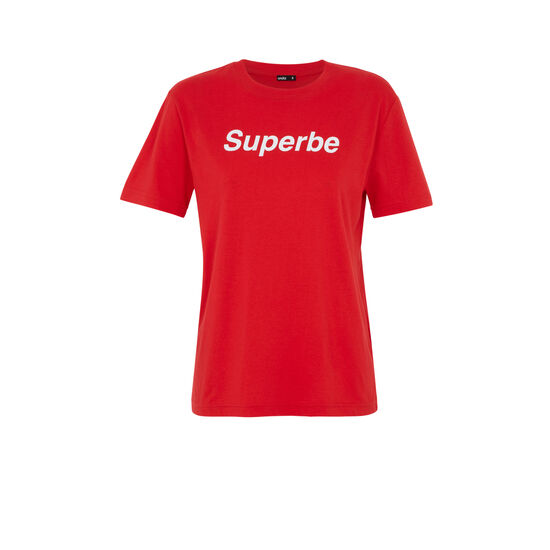 Camiseta roja superbiz;