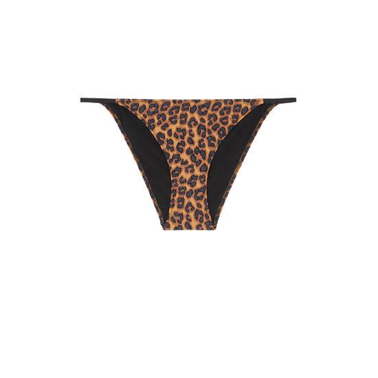 Braga de bikini marrón pantheriz;