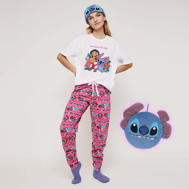 Conjunto de pijama top + pantalón estampado Stitch stitchiniz;
