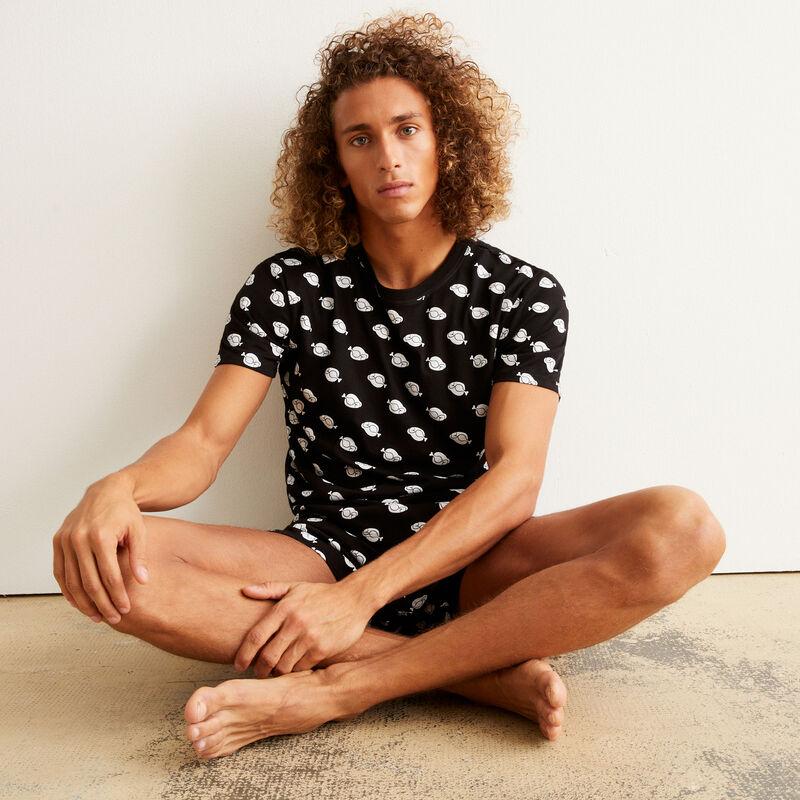 juego de pijama con motivos - negro ;