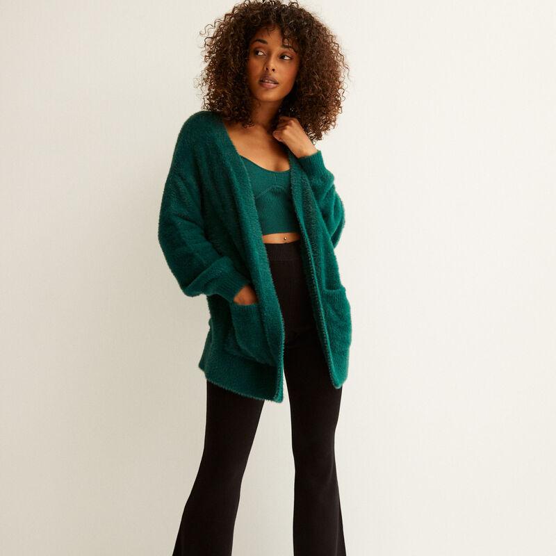 chaqueta oversize de fibra polar - abeto;