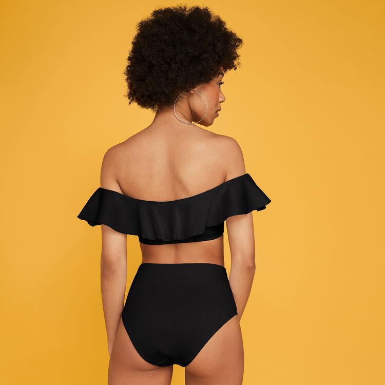 Braguita de bikini de talle alto Sabliz, negro;