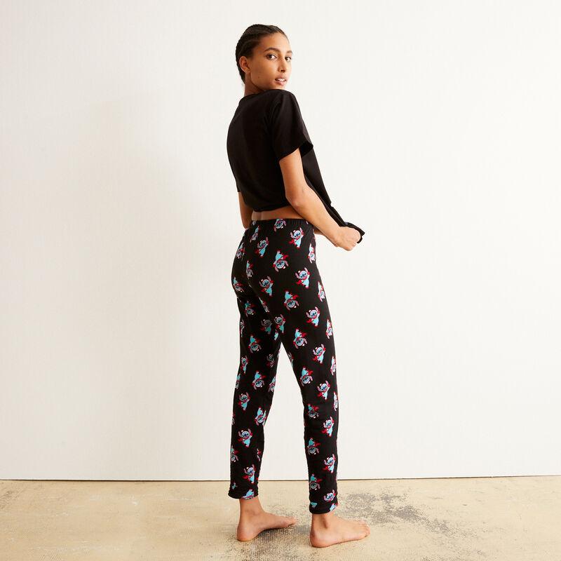 pantalón con motivos de Stitch - negro;