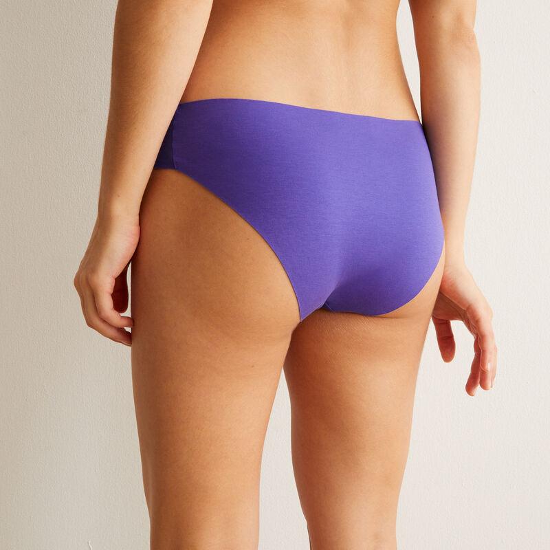 Braguita culotte de algodón lisa - violeta;