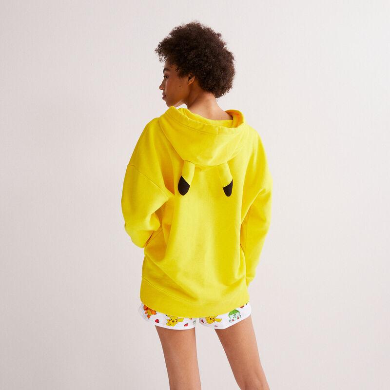 sudadera Pikachu - amarilla;