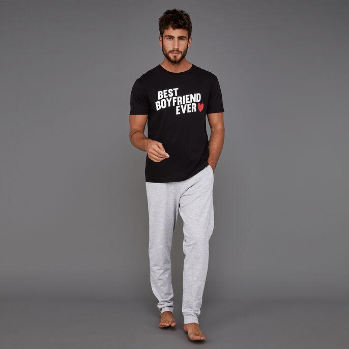 Conjunto de pijama negro para hombre boyfriz black.