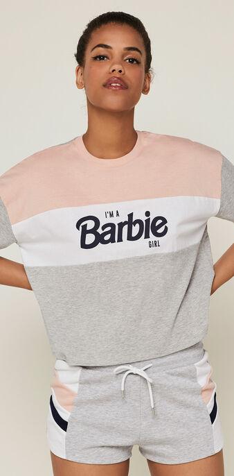 Top licencia barbie ralouiz gris claro.