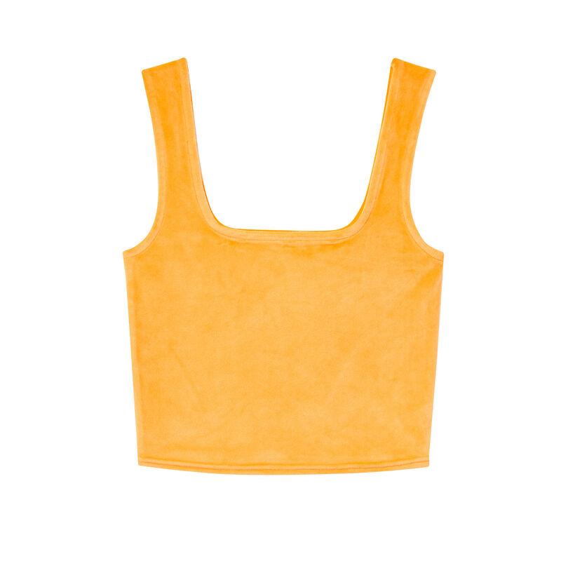 sujetador de terciopelo - naranja;