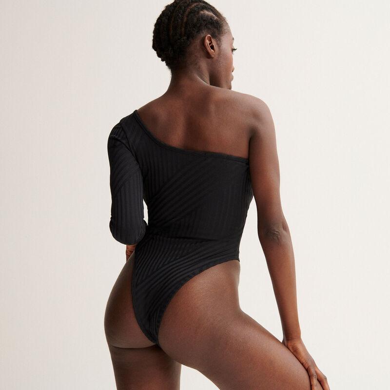 Body asimétrico Aya x undiz - negro;