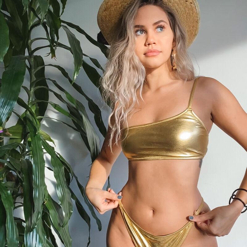 Parte de arriba de bikini sujetador - oro;