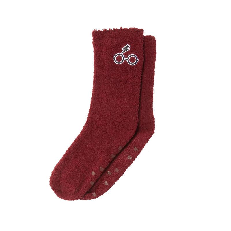calcetines con motivos de harry potter - burdeos;
