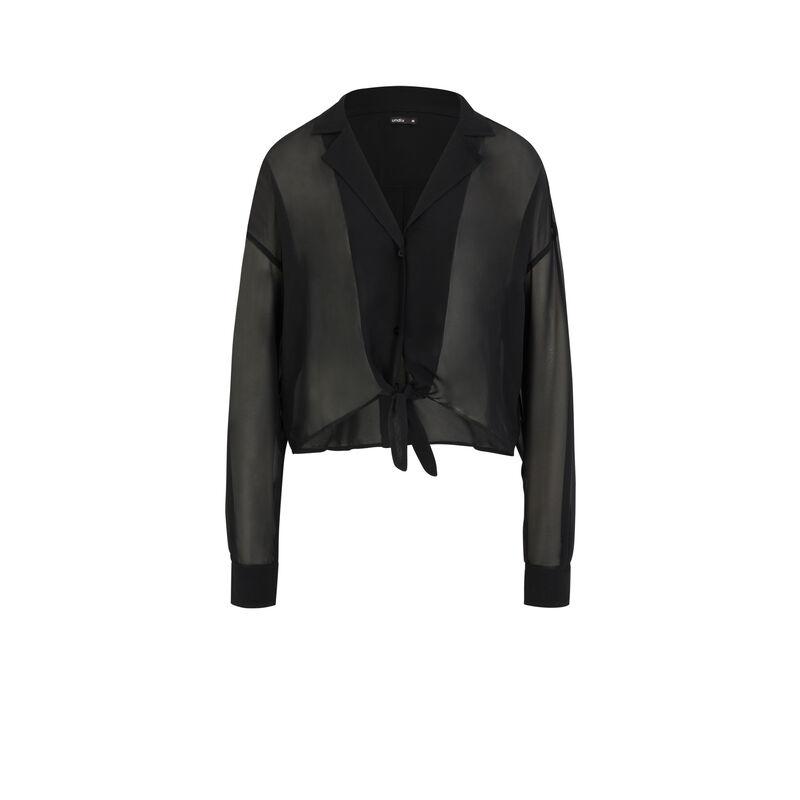 Camisa semitransparente - negra;