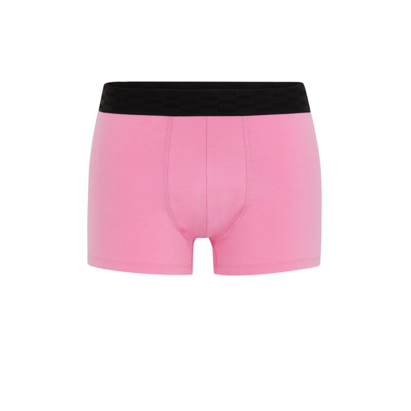 Bóxer de algodón con mensaje - rosa;