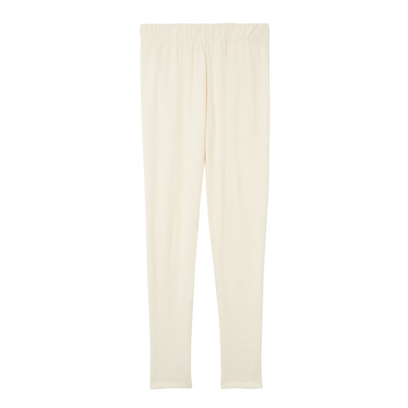 leggings forrados - blanco roto;