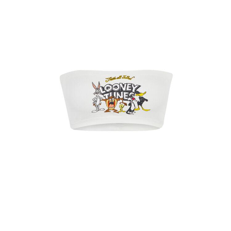 Sujetador bandeau blanco canvassiz;