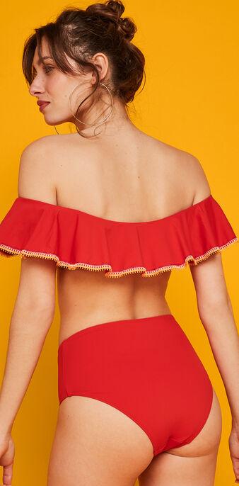 Parte de arriba de maillot de baño rojo tequiliz rojo.