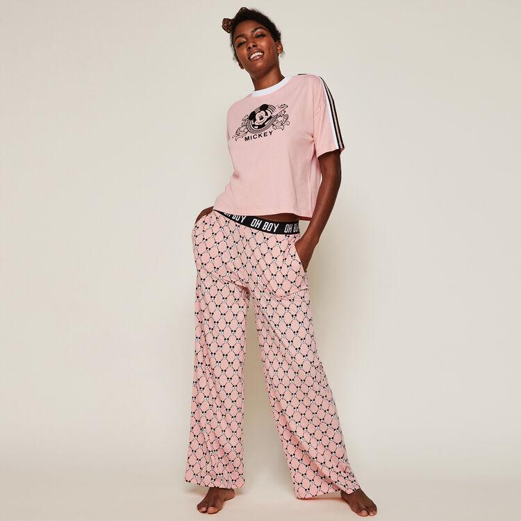 Pantalón amplio con logo Mickey versaqueeniz;