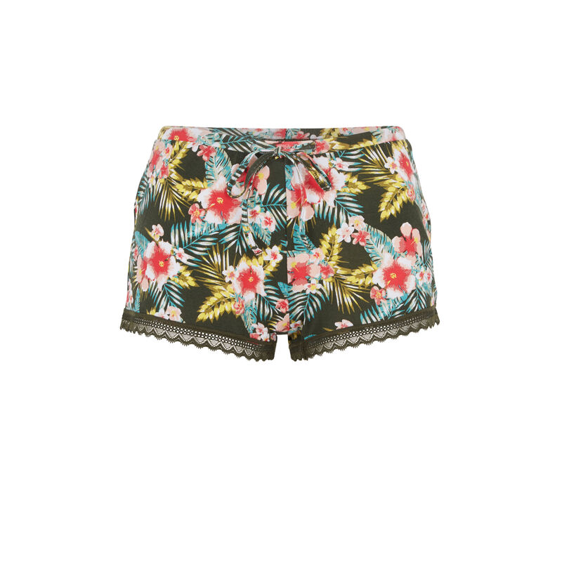Short caqui tropicaliz;