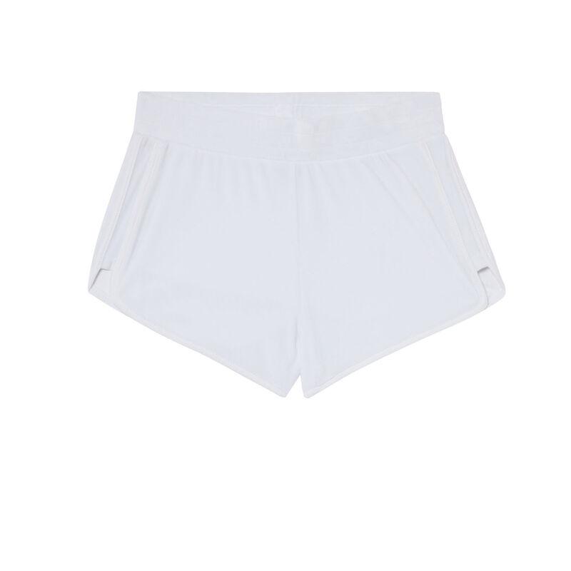 Shorts de terciopelo - blanco;