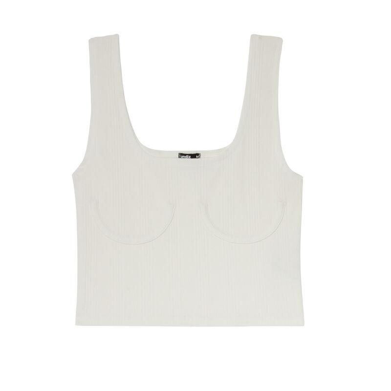 camiseta de tirantes acanalada con aros - blanca;